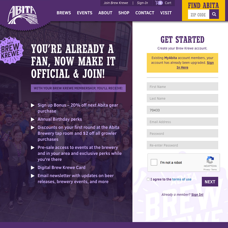 Abita Beer Website