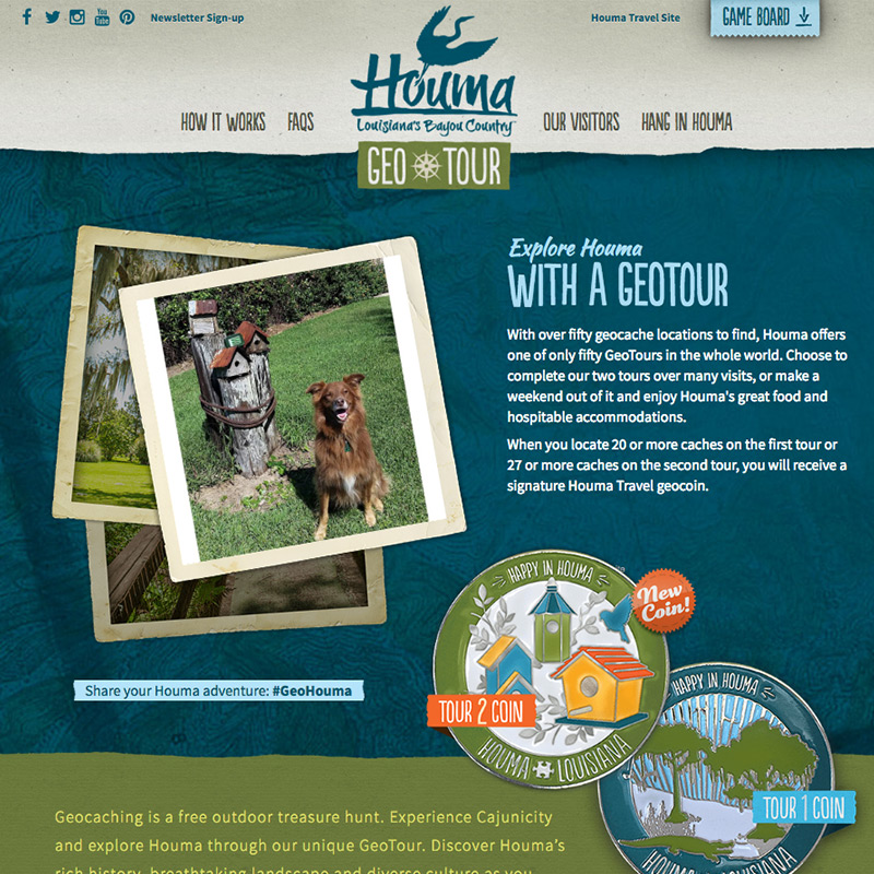 Houma Geo Tour Website