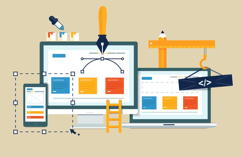 Update Your Website concept illustration