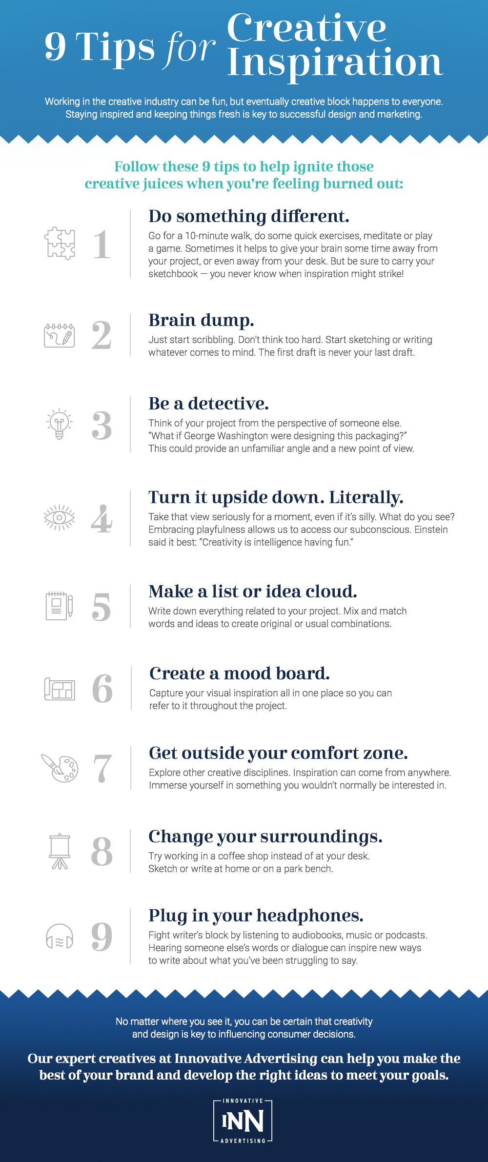 9 Tips for Creative Inspiration