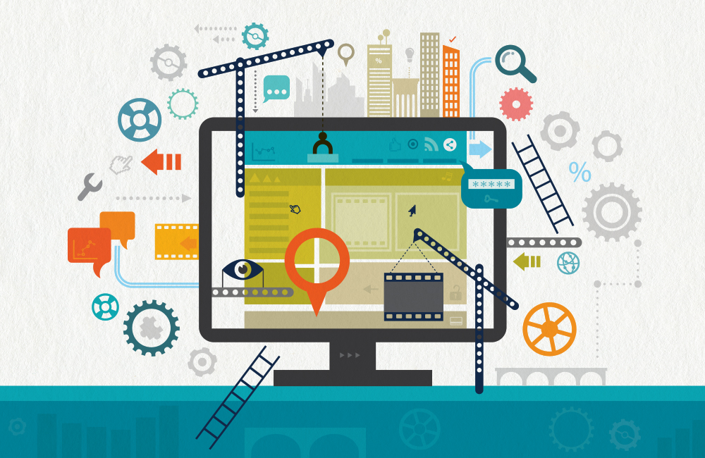 Optimizing Your Website During Down Time concept illustration